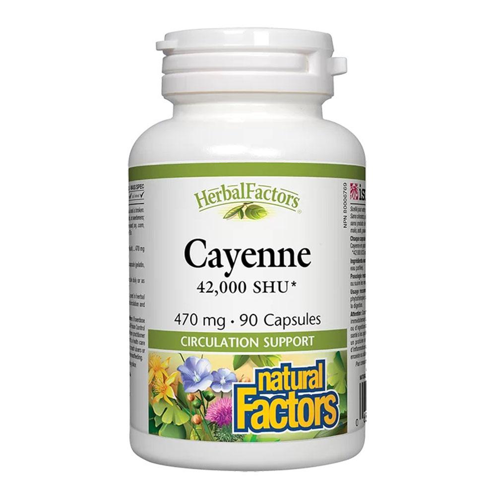 Cayenne 42 000 SHU/ Лют червен пипер 470 mg, 90 капсули