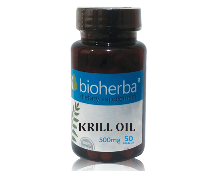 Масло от Крил (Krill oil) 500 mg, 50 софтгел капсули