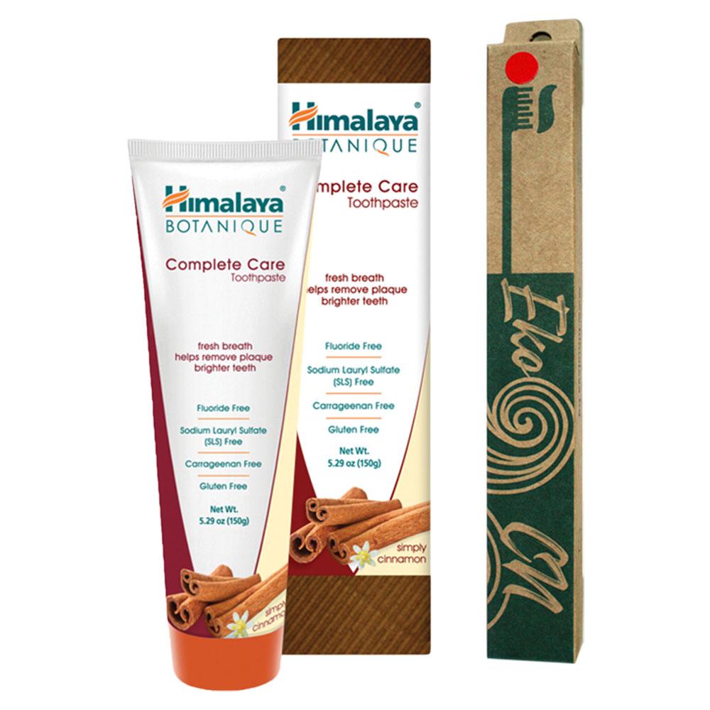 ПРОМО ПАКЕТ: Бамбукова четка за възрастни + Botanique Паста за зъби за цялостна грижа - Канела