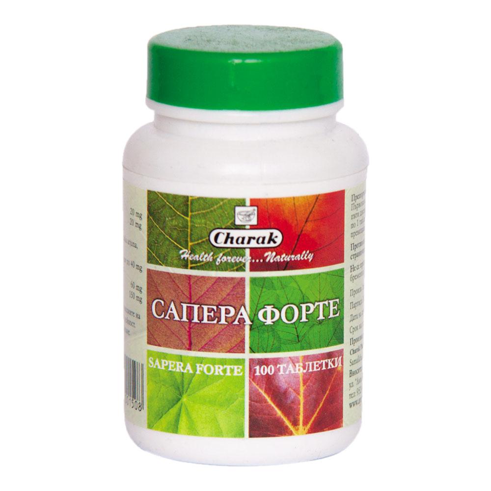 Сапера форте (Sapera forte), 100 таблетки, за нормално кръвно налягане