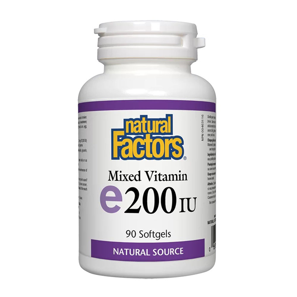 Vitamin E / Витамин E (токофероли микс) 200 IU, 90 софтгел капсули