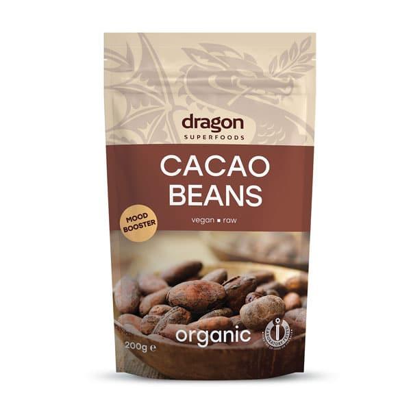 Био Какаови Зърна, цели, сурови, 100 гр