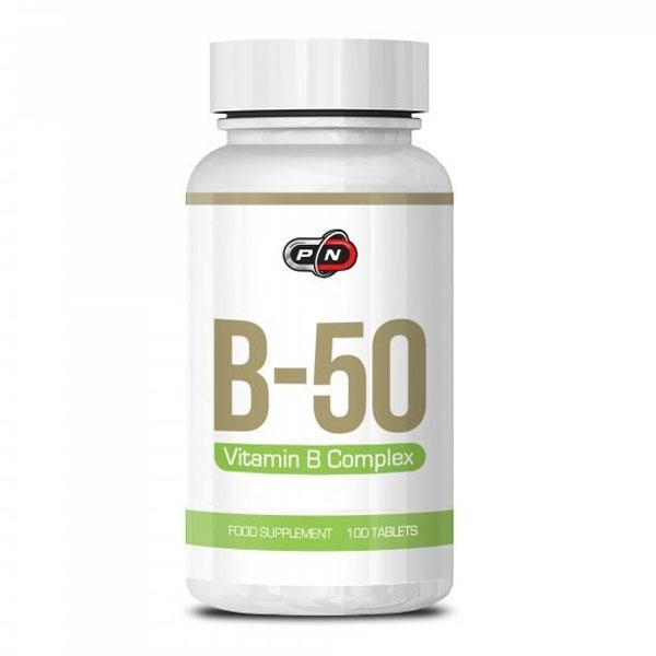 Витамин B-50, Pure Nutrition, 100 Таблетки