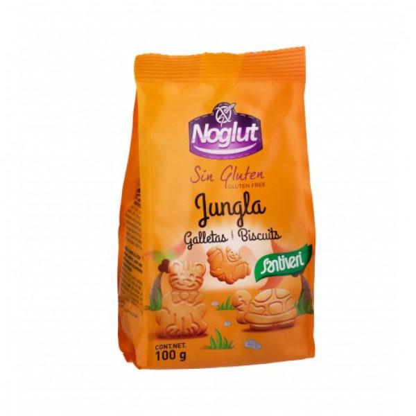 Детски бисквити Джунгла, без глутен, без лактоза, без яйца 100г, Santiveri