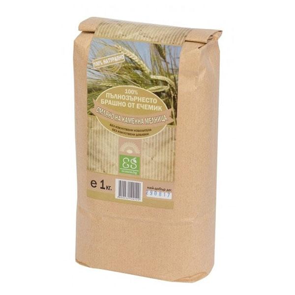 Натурално пълнозърнесто брашно от ечемик, 1 кг