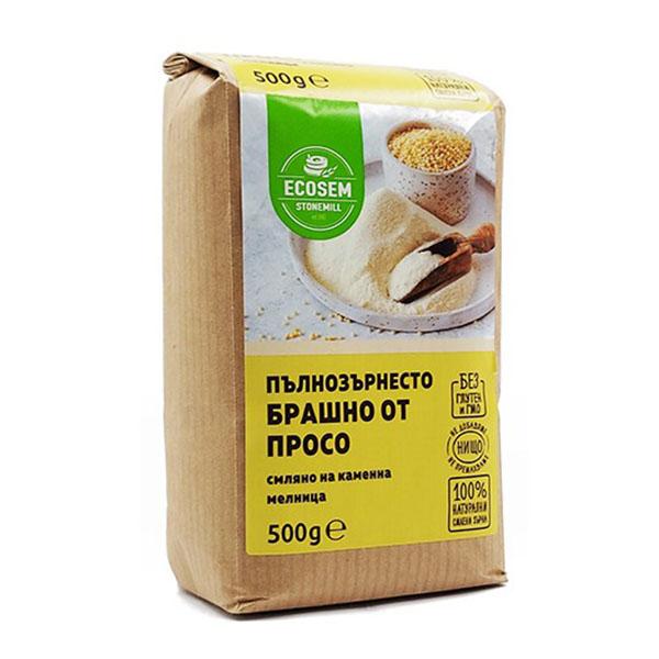 Натурално пълнозърнесто брашно от просо, 500 гр