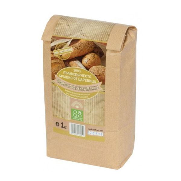 Натурално пълнозърнесто царевично брашно, 1 кг