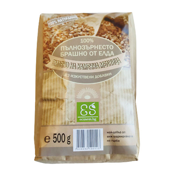 Натурално пълнозърнесто брашно от елда, 500 гр.
