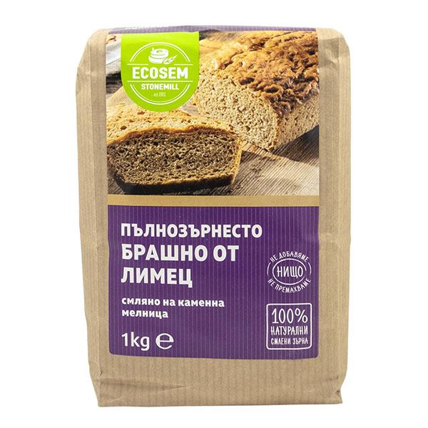 Пълнозърнесто брашно от еднозърнест лимец, 1 кг