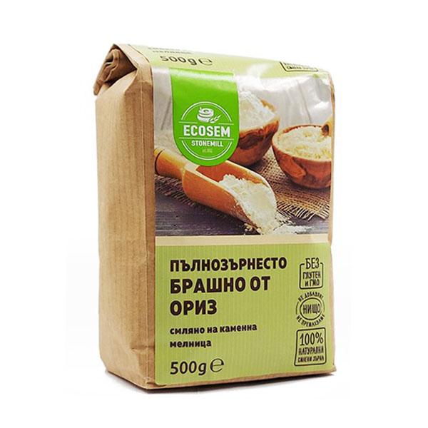 Натурално Пълнозърнесто Брашно от Ориз, 500 гр.