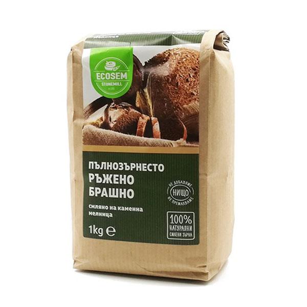 Натурално пълнозърнесто ръжено брашно, 1 кг