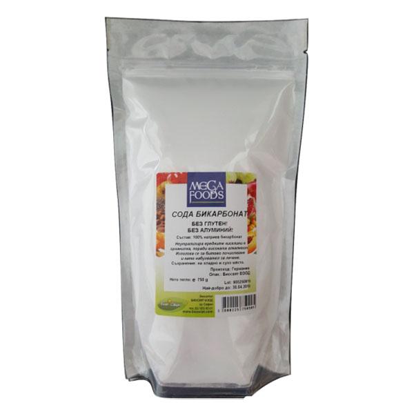 Сода бикарбонат без глутен, без алуминий 750 гр.